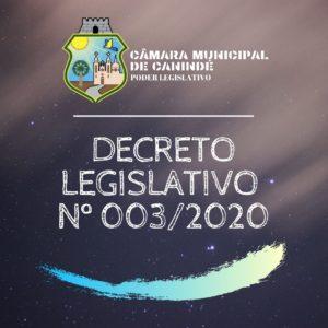 DECRETO LEGISLATIVO  Nº 003/2020